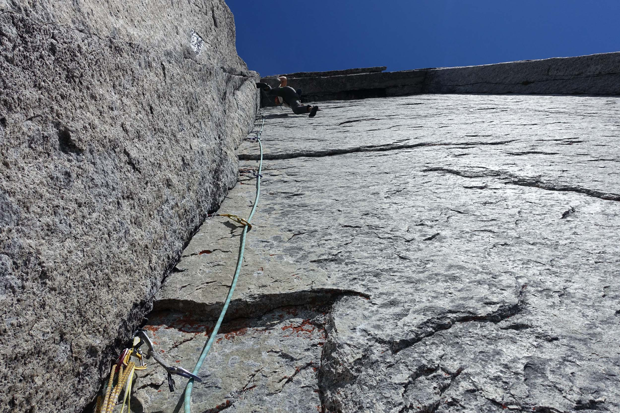 Jesse Huey sending the crux of Armageddon on his second try on our second day. Photo: Maury Birdwell